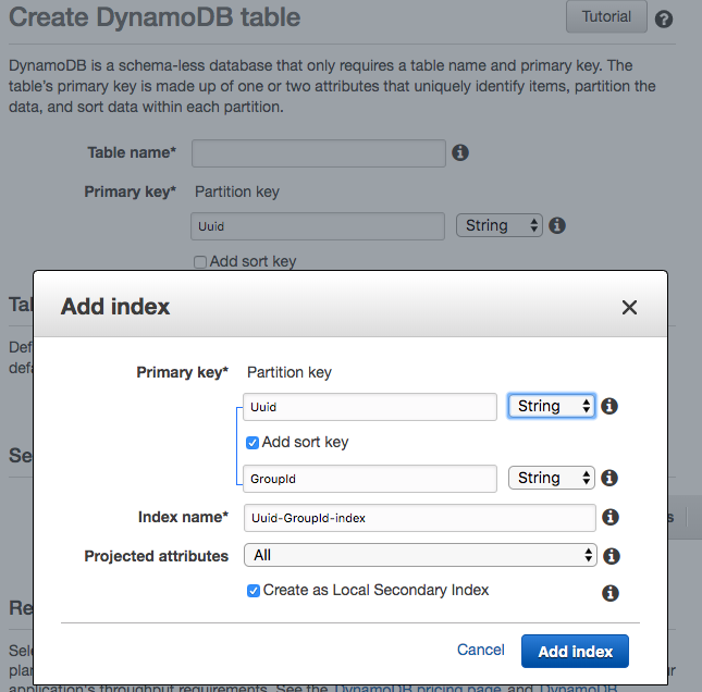 Create Secondary Indexes For AWS DynamoDB to Prevent