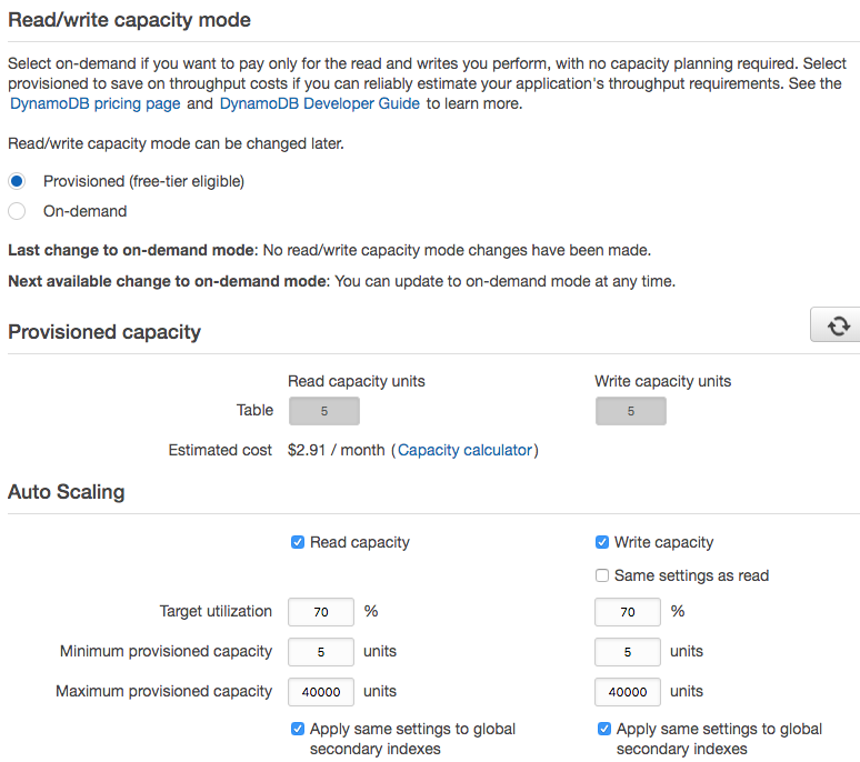 AWS DynamoDB Pay-Per-Request Billing Mode And On-Demand Read