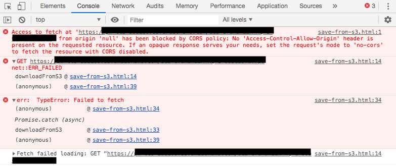 Handle Amazon S3 Download No Access-Control-Allow-Origin Header(CORS