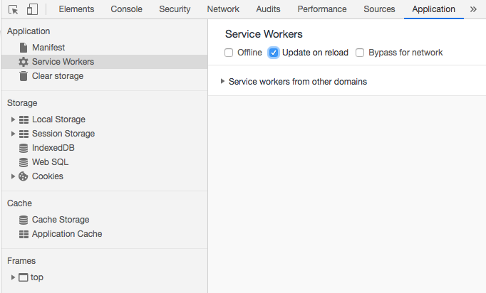 Chrome Service Worker Update on Reload